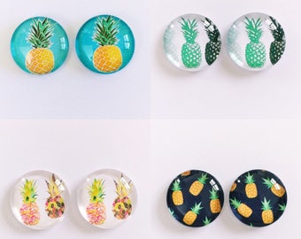 The 'Pineapple' Glass Earring Studs