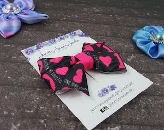 Pinwheel Hair Bow Clip - One Direction