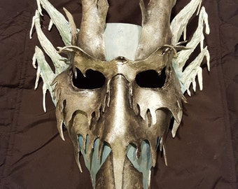 Ice Dragon Leather Mask