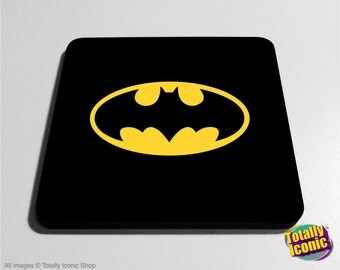 Classic Batman Drinks Coaster Mat -Comic Book Super Hero, Inspired by the film series & comic book