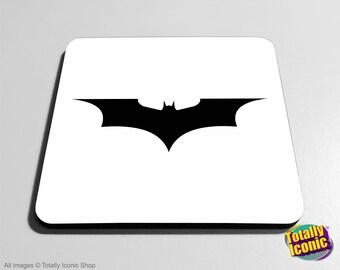 Batman Dark Knight Drinks Coaster Mat -Comic Book Super Hero - Gotham - Bruce Wayne