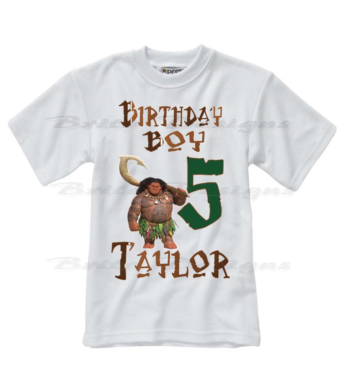 Moana Birthday Shirt Moana Maui Boys Birthday Shirt