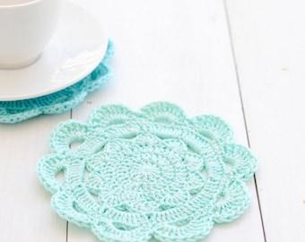 Crochet Coasters Pattern - Alice Scallop Edge Coasters - PDF