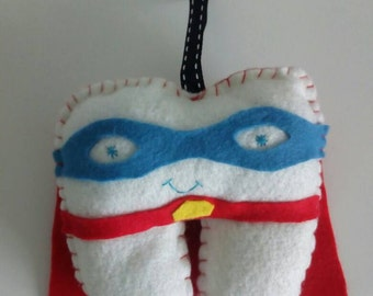 Tooth fairy pillow superheroe