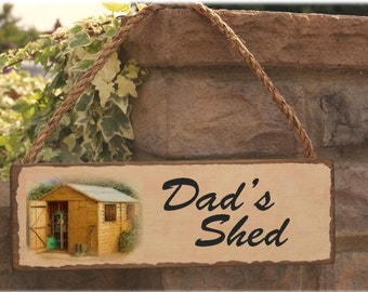 Dads shed sign  gift for dad  can be personalised