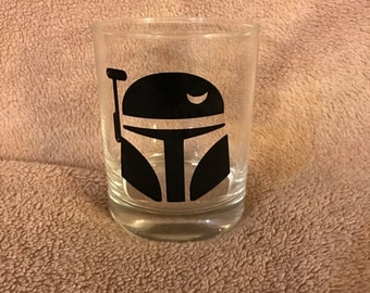 Star Wars Boba Fett Rocks Glass