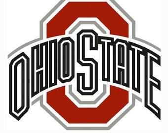 Ohio State Buckeyes Logo SVG Vector Svg Eps Dxf Jpeg Format Digital Download Cut Cuttable Files ...