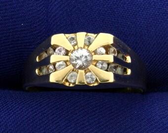 3/4ct TW Men's White Sapphire Ring