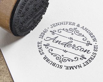 Personalised Return Address Self Inking Rubber Stamp