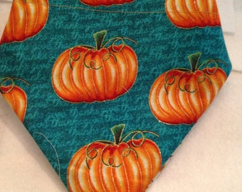 Pumpkin/Fall Reversible Bandana