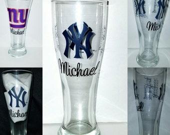 Sports Themed Pilsner Glass