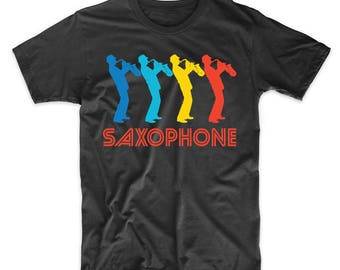 Sax Player Retro Pop Art Saxophone Graphic T-Shirt