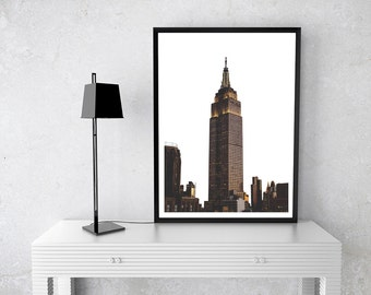 Skyline, City, Edgy, Printable Wall Art, Photography, Simplistic, Modern, Home Decor