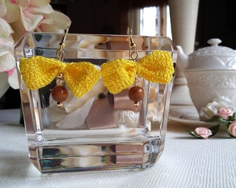 Crochet earrings bows