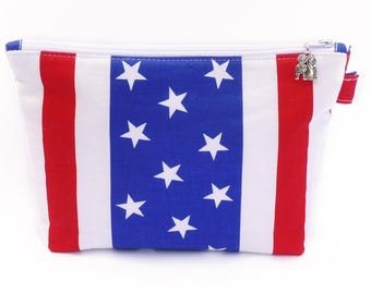 Stars and Stripes American wash bag
