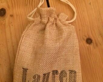 Personalised Jute / Burlap Drawstring Bag