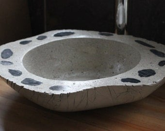 16in Made to Order Abstract Concrete with Pebble Stone Bathroom Vessel Sink Basin
