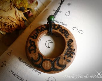 Necklace ~ Wiccan speech ~ wood