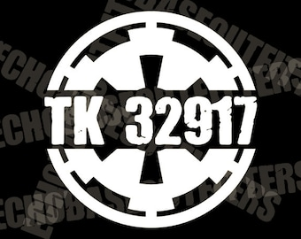 Personalized TK ID decals, 501st Stormtroopers Star Wars Imperial cog