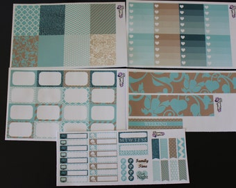 Turquoise Dreams VERTICAL Weekly Kit