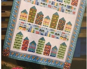 Little Town Quilt Pattern by Its Sew Emma