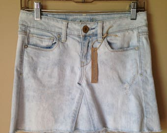 Upcycled Denim - Jean Mini Skirt - Size 2