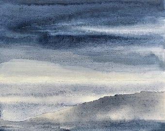TRANSITIONS - Horizon Collection, Original Artwork on Canvas by Sandra Shebitz, Swea Gallery