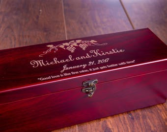 First Fight Box, Wine Box, Wedding Fight Wine Box, Wine Box Ceremony, Wedding Wine Ceremony, Wine Gift Box