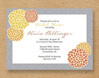 Chrysanthemums Bridal Shower Invite