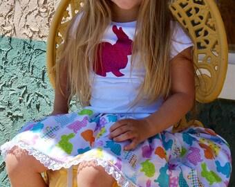 Easter Bunny Skirt Toddler Girl Bunny Skirt Girl Easter Outfit Toddler Skirt Girls Easter Skirt Easter Bunny Skirt Bunny Skirt Girl Easter