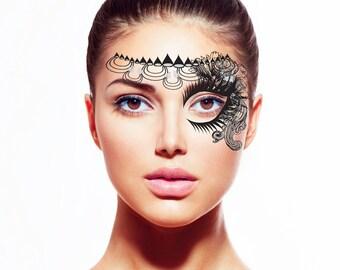 Gatsby Temporary Tattoo Face Mask