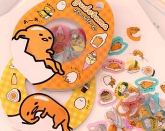 Confezione 60 stickers Gudetama! Super kawaii!