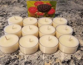 Black Raspberry Vanilla Soy Tea Light Candles Set Of 12