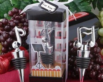 Wine Stoppers-Wedding Favors-Wedding Favors for Guest-  Wine Stopper Music Notes