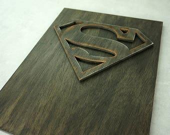 Superhero Superman, Wall art, wooden wall art