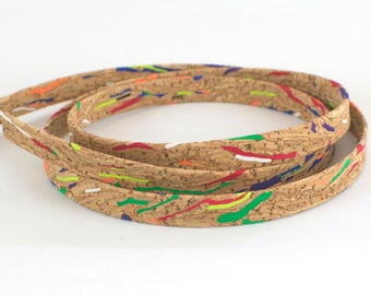 Cork strap / cork rope stripe multicolor