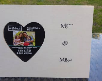 "Wooden Photo Frame ""MR. AND MRS"""