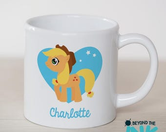 Personalised Applejack My Little Pony Small Plastic Toddler Cup - Children's Plastic Cup - BPA Free