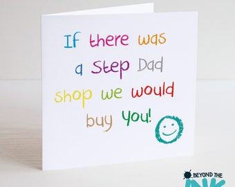 Cute Step Dad Father's Day Card - We / I Would Buy You - Birthday Card