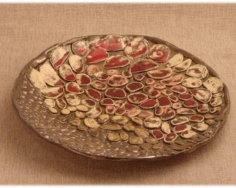 Autumn bowl handmade pottery 33cm