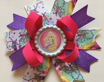 Tangled  Hairbow- Tangled Hairbows- Rapunzel Bows- Rapunzel Bow- Tangled- Rapunzel- Tangled Accessories- Bows- Princess Hairbow- Princesses-