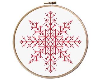 Snowflake Cross Stitch pattern / Christmas Cross Stitch / Easy Cross Stitch / Modern cross stitch pdf