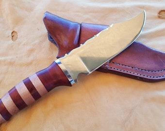 Oak Handle Knife Etsy