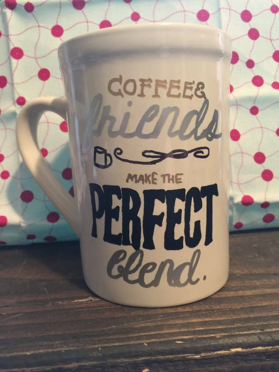 Coffee Mug, Perfect Brew, Large Coffee Mug, Funny Coffee Mugs, Gifts for Coffee Lovers, New Home Gifts, Hand Painted Gifts, Custom Gifts