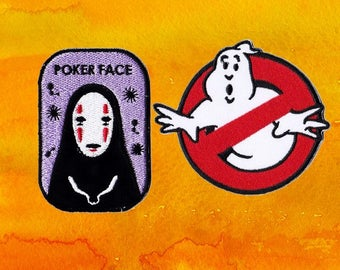 No Face Patch Ghost Patch Patches Iron On Patch Set Appliques Embroidered Patches