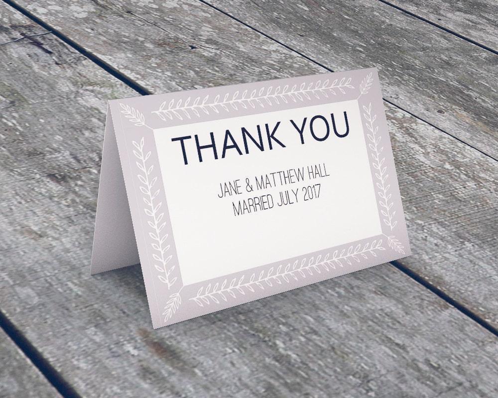 Editable Thank You Card - Greeting Card Template - DIY Thank You ...