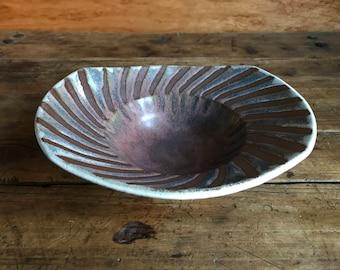 Koshari Spiral Bowl - handmade bowl, unique bowl, pottery bowl, ceramic bowl, perfect gift, home decor, kitchenware, summer color, boho chic