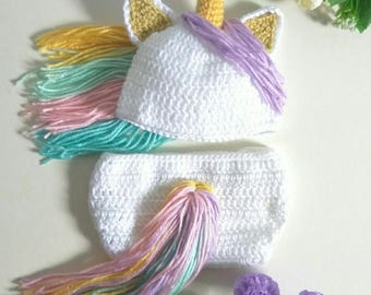 Baby photo props,unicorn costume,baby photo props,unicorn photo props