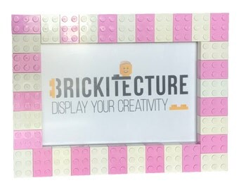 Picture Frame - Pink/White - Authentic 2x3 LEGO Bricks
