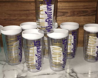 Personalized Hashtag Tervis Style Tumbler, BPA Free Acrylic Tumbler, Personalized Tumbler, Name & Hashtag, Bridal Party GIft, Birthday